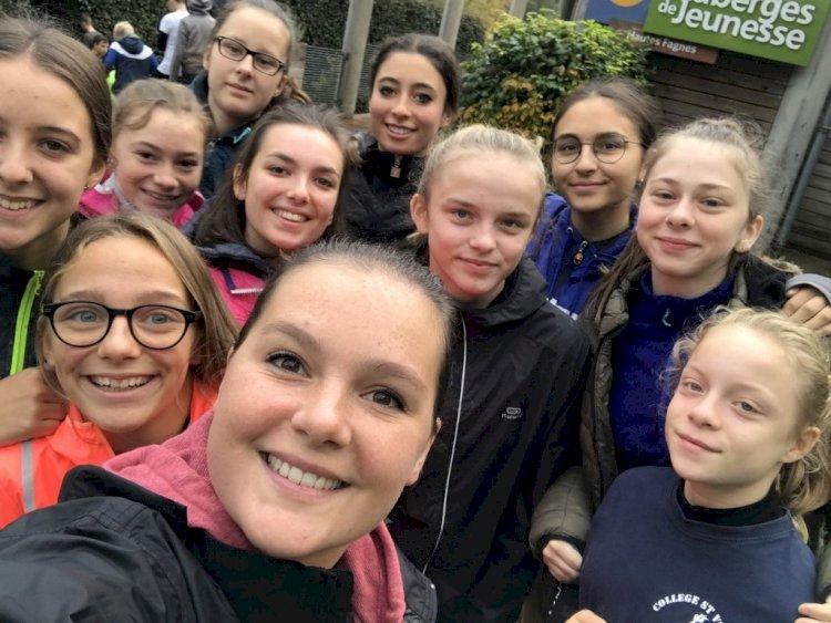 Les élèves de la section TS à Malmedy