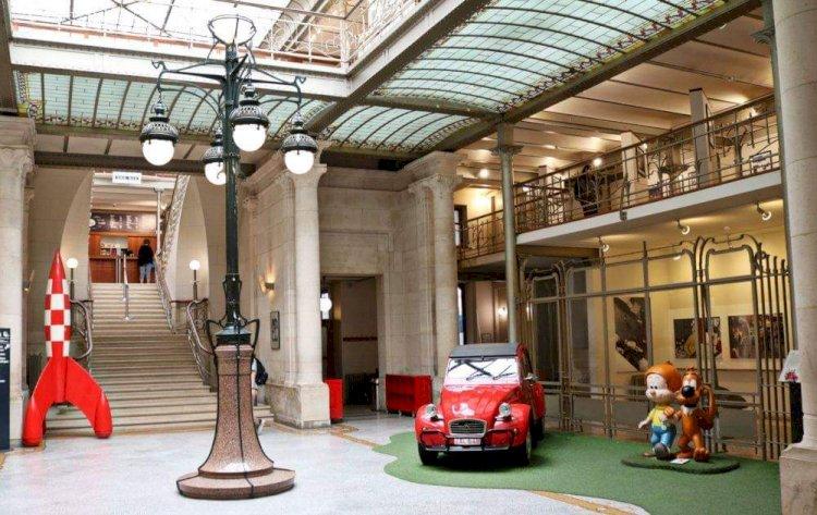 Visite du musée de la bande dessinée à Bruxelles