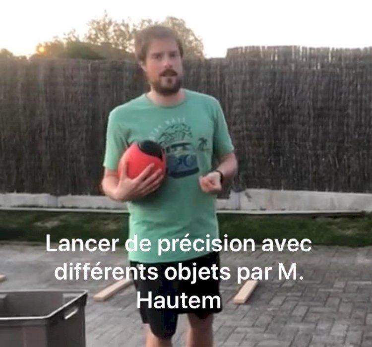 Les défis sportifs : Mercredi 15 avril Lancer de précision avec M. Hautem