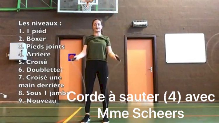 Les cours de corde à sauter : Samedi 18 avril dernière partie avec Mme Scheers