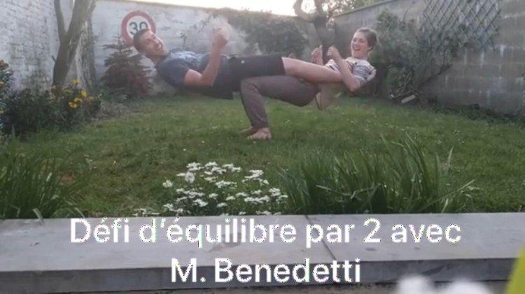 Mercredi 29 avril : Défi équilibre avec M. Benedetti